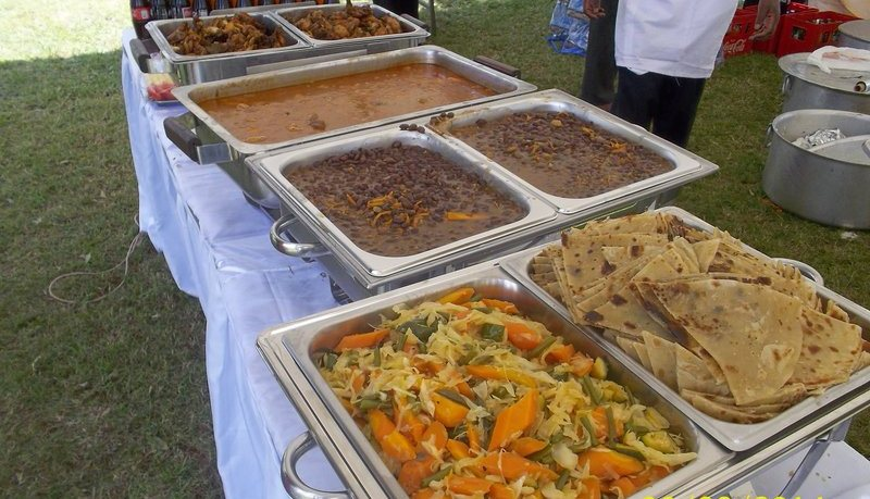 Food at a wedding